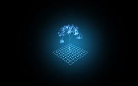 Обои проекция, дерево