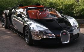 Обои Bugatti, Veyron, Russia, Black, Moscow, Grand Sport, 16.4