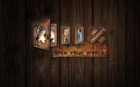 Обои игры, дерево, дверь, xbox, иксбокс