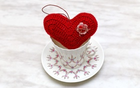 Картинка любовь, сердце, чашка, love, heart, romantic