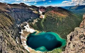Обои Канада, скалы, горы, озеро, Akamina Ridge, Британская Колумбия