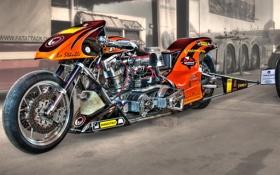 Обои дизайн, мотоцикл, драгстер, байк, HDR, форма