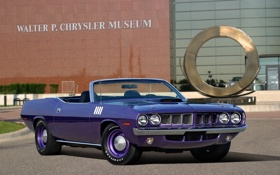 Картинка фиолетовый, 1971, кабриолет, мускул кар, muscle car, Plymouth, violet