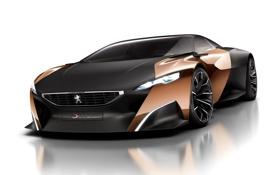 Обои Onyx, передок, Peugeot, концепт, Оникс, Пежо, суперкар
