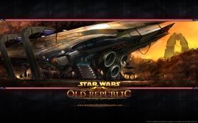 Картинка корабль, star wars, art, old republic, mmorpg