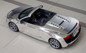 Картинка car, машина, exclusive, 3000x2082, audi r8 v10 spyder chrome