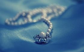 Картинка макро, настроения, камень, ожерелье, красиво, кулон, жемчуг