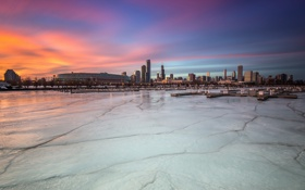 Обои Chicago, Thin Ice, Near South Side