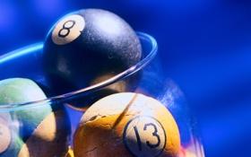 Обои макро, шары, игра, бильярд, game, balls, номера