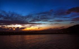 Обои бухта, вечер, море