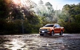Обои Ford, форд, рейнджер, Ranger, 2015, Wildtrak, TH-spec
