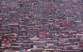 Обои город, домики, architecture, China
