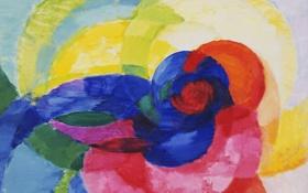 Картинка цветок, абстракция, обои, круг, радуга, картина, дуга