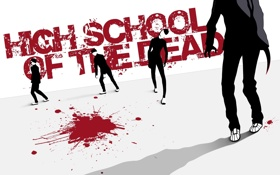 Картинка зомби, high school of the dead, HSoTD