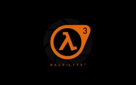 Обои Half-Life, логотип, Valve Corporation, черный фон, минималистичный, простой фон