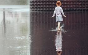 Картинка вода, отражение, девочка