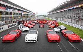 Обои фон, Феррари, команда, Ferrari, болид, трибуны, суперкары