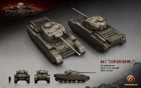 Обои танк, Британия, Великобритания, танки, рендер, WoT, World of Tanks