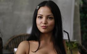 Обои взгляд, актриса, красавица, длинные волосы, Ирония любви, Асель Сагатова
