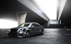 Обои Lexus, front, silvery, обвес, 430, brige