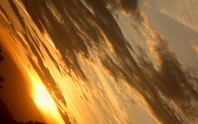 Обои облака, закат, Небо