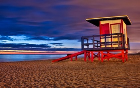 Обои Sunrise, Long Exposure, cocoa beach