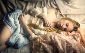 Обои девушка, отдых, сон, коса, нега, Kamila