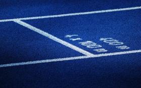 Обои макро, разметка, спорт, беговая дорожка, стадион, беговые дорожки