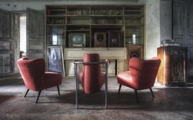 Картинка комната, телевизор, кресла