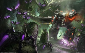 Картинка трансформеры, автоботы, десептиконы, Transformers: Fall of Cybertron