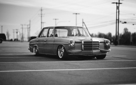 Обои mercedes, benz, stance works, W114