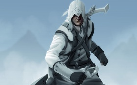 Обои assassin, ассасин, assassins creed, коннор кенуэй, connor kenway