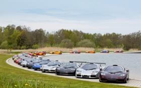 Картинка F1 LM, F1 GTR, встреча владельцев, McLaren F1, суперкары