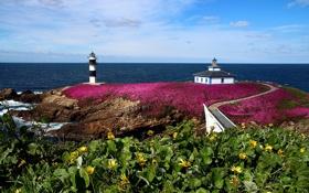 Обои Galicia, скалы, маяк, Ribadeo, Галисия, море, Spain