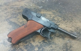 Картинка пистолет, оружие, P08, Luger