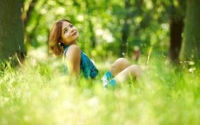 Картинка девушка, взгляд, свет, настроение, лето
