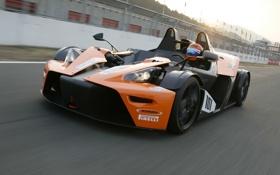 Картинка авто, скорость, трасса, вид спереди, KTM, X-Bow, GT4