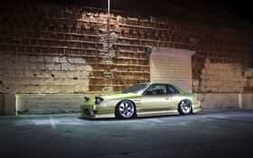 Картинка стена, кирпич, Nissan, 240SX