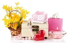 Картинка любовь, цветы, сердце, свеча