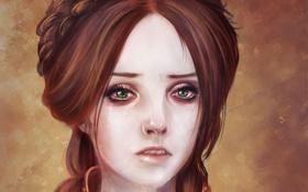 Обои взгляд, прическа, Game of thrones, Песнь льда и огня, Sansa Stark, Санса старк