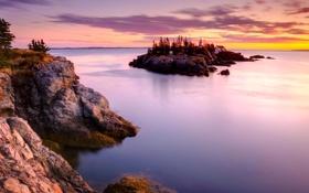 Картинка Канада, скалы, маяк, Кампобелло, остров, Нью-Брансуик