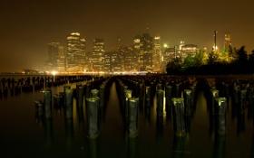 Картинка город, вечер, нью йорк