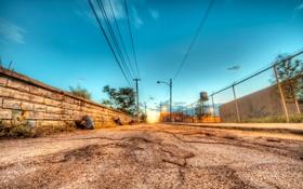 Картинка дорога, city, города, стена, улица, стены, дороги