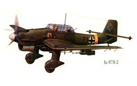 Обои самолет, война, рисунок, бомбардировщик, германия, Ю-87B-2