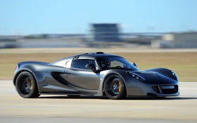 Обои авто, суперкар, Hennessey, Venom, cкорость
