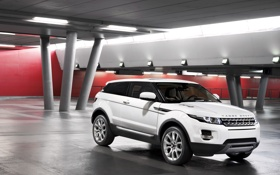Картинка белый, тачки, джип, внедорожник, Land Rover, Range Rover, cars