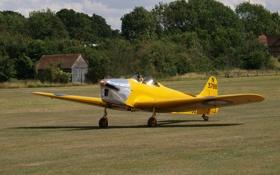 Картинка британский, самолет, учебно-тренировочный, Miles M 14A, двухместный, Mk3, Hawk Trainer