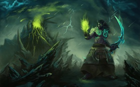 Обои World of Warcraft, Night Elf, blizzard, wow, Xerioth
