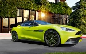 Обои Aston Martin, supercar, Green, Vanquish