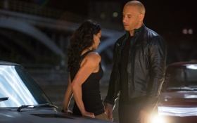 Картинка Вин Дизель, Мишель Родригес, Vin Diesel, Michelle Rodriguez, Dominic Toretto, Letty, The Fast and the ...